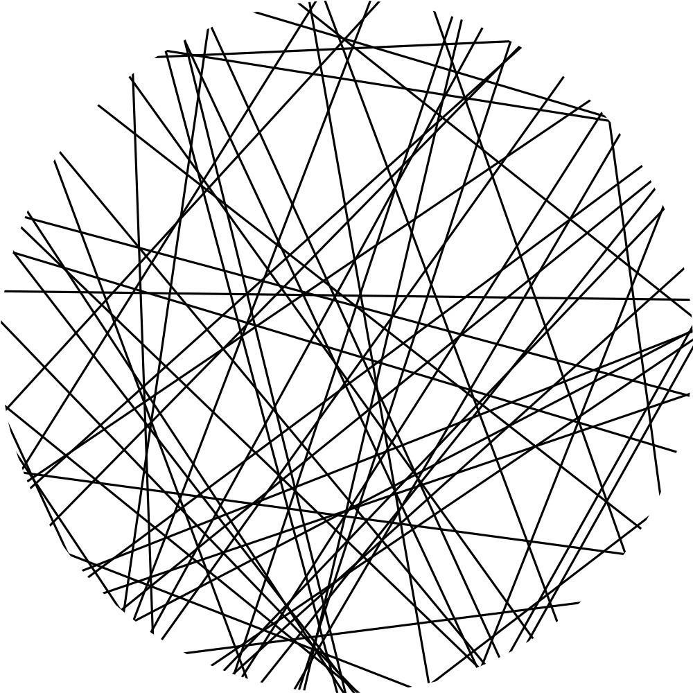Poisson-line-tessellation